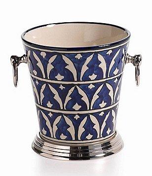 Zodax Mazagan Hand-Painted Ceramic Ice Bucket