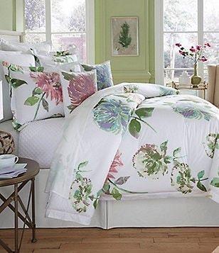 Southern Living Flora Watercolor Floral Comforter Mini Set