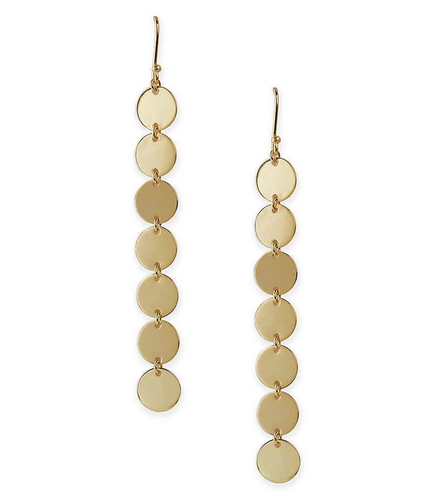 Argento Vivo Disc Linear Drop Earrings