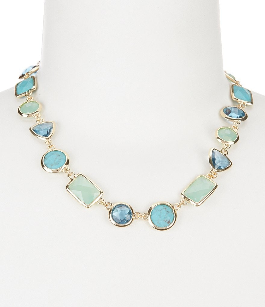 Anne Klein Turquoise Stone Collar Necklace