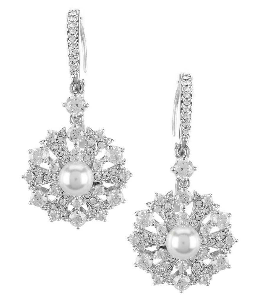 Nadri Lily Cubic Zirconia & Faux-Pearl Clip-On Earrings