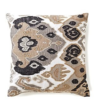 Noble Excellence Ikat Linen Oversized Square Pillow