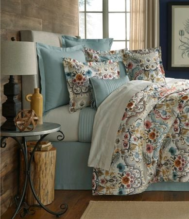 Villa By Noble Excellence Liana Floral Percale Comforter