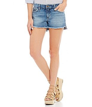 Joe´s Jeans Yoselyn Frayed Step Up Hem Denim Shorts