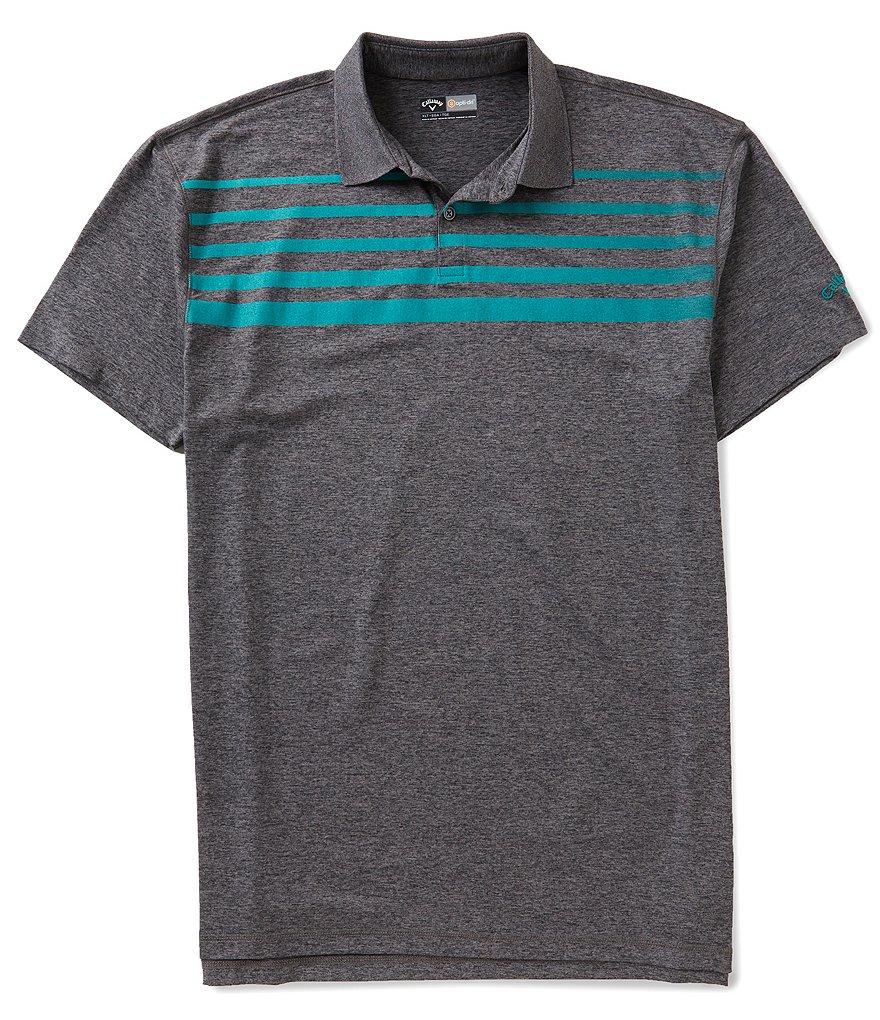 Callaway golf big tall faded stripe polo shirt dillards for Big and tall golf shirts