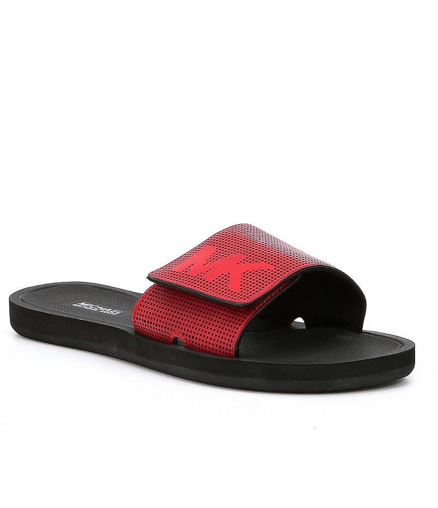 Black mk sandals - Michael Michael Kors Mk Slides Sandals
