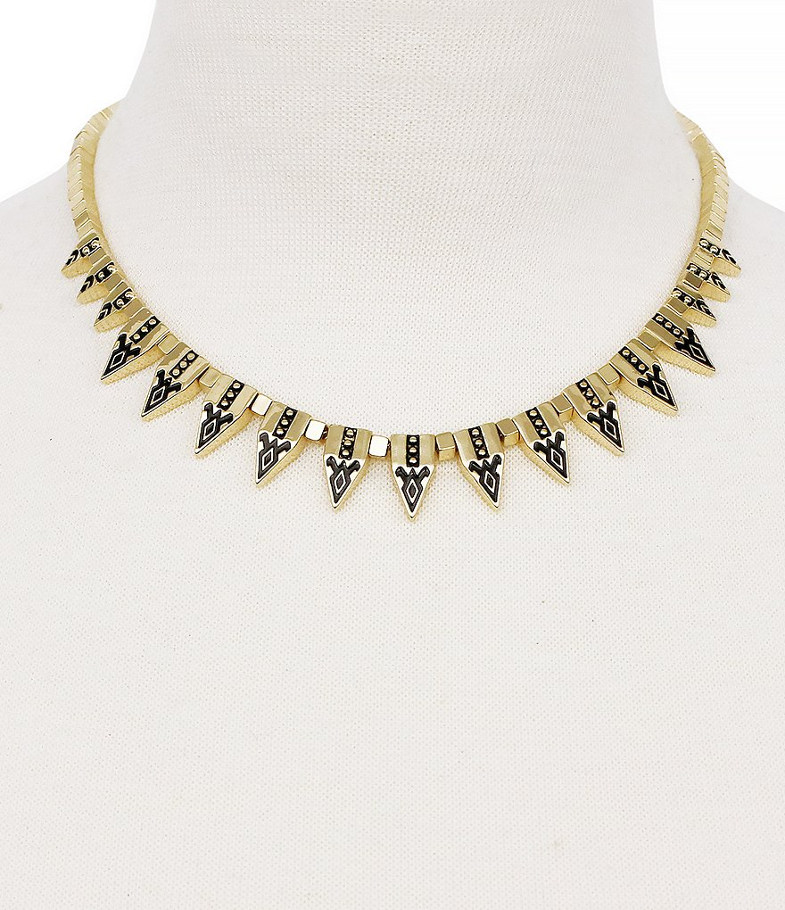 Jessica Simpson Home Grown Spiked Collar Necklace