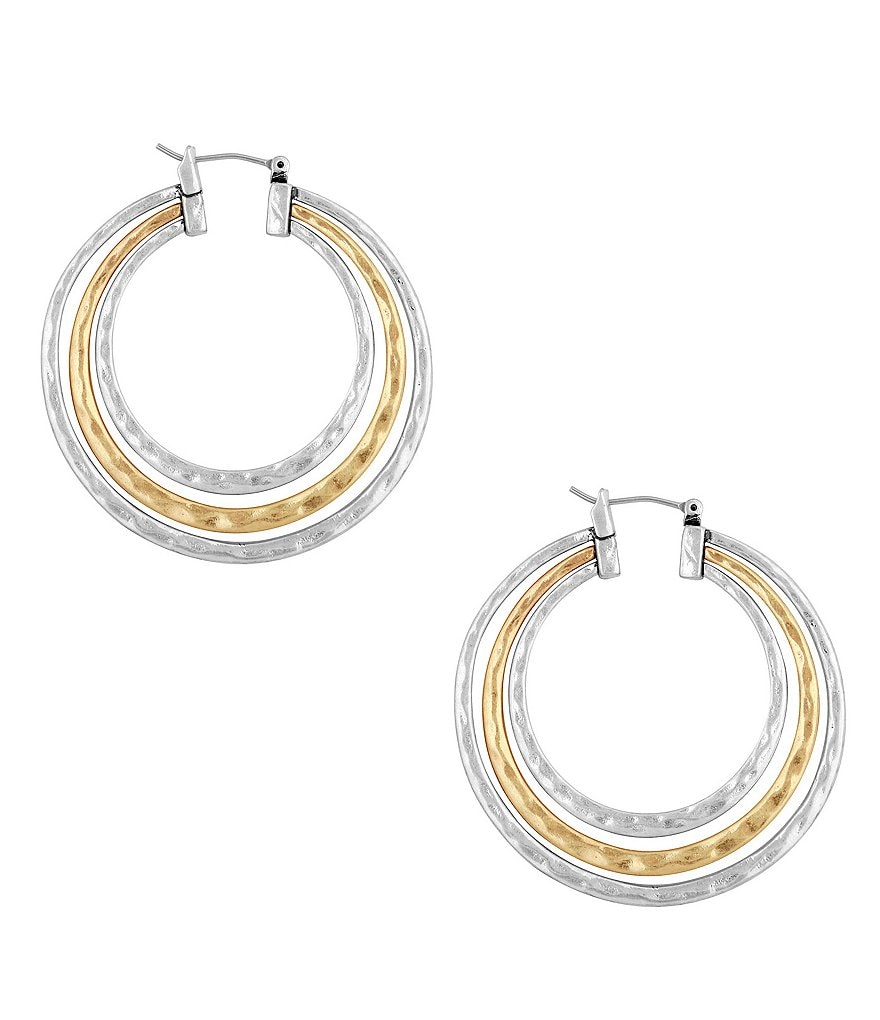 Lucky Brand Multi-Row Hoop Earrings