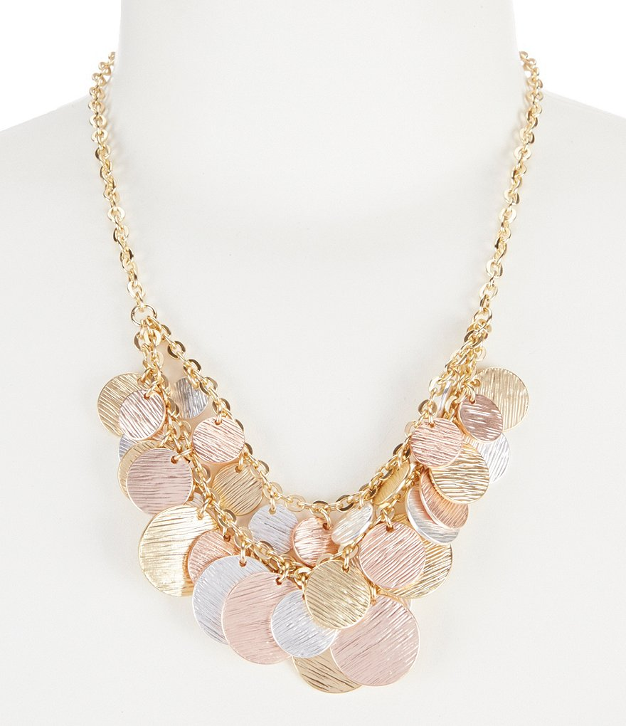 Dillard´s Multi-Strand Textured Disc Necklace