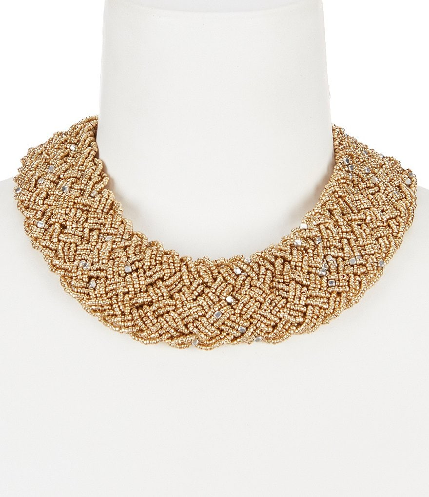 Anna & Ava Beaded Braided Statement Necklace