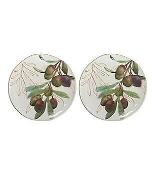 Artimino Olive Salad Plates, Set of 2