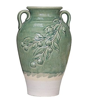 Artimino Glazed Green Olive Vase