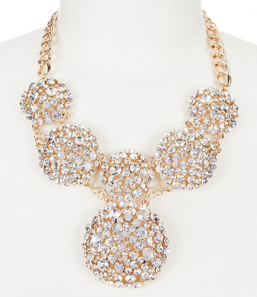 Natasha Accessories Faux-Crystal Collar Necklace