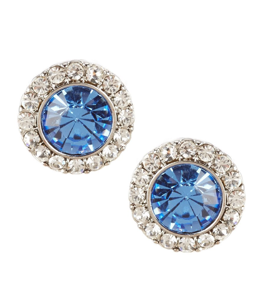 Carolee Something Blue Stud Earrings