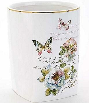 Avanti Linens Butterfly Garden Wastebasket