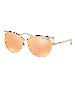 michael kors aviators h0tv  Michael Kors Mirrored Cat-Eye Sunglasses