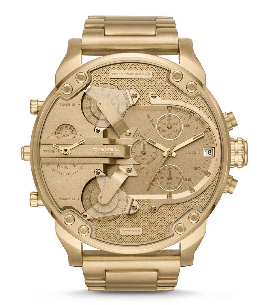 diesel mr daddy 20 chronograph amp date bracelet watch