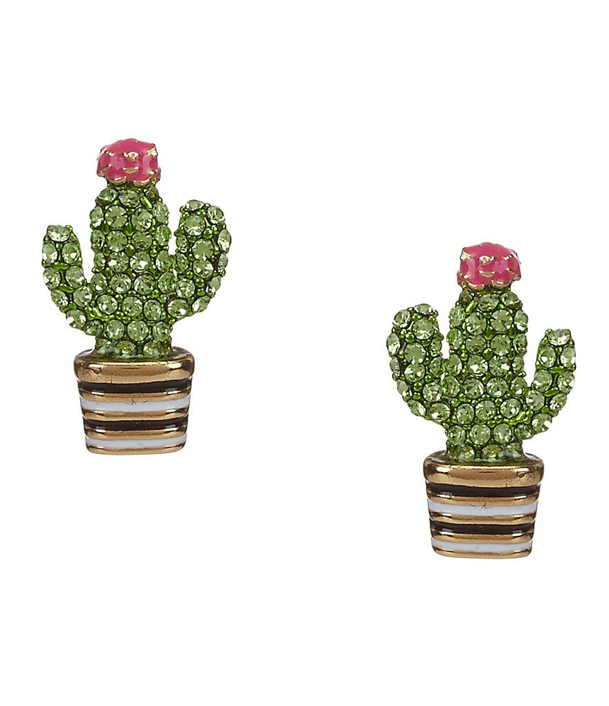 kate spade new york Scenic Route Pavé Cactus Stud Earrings