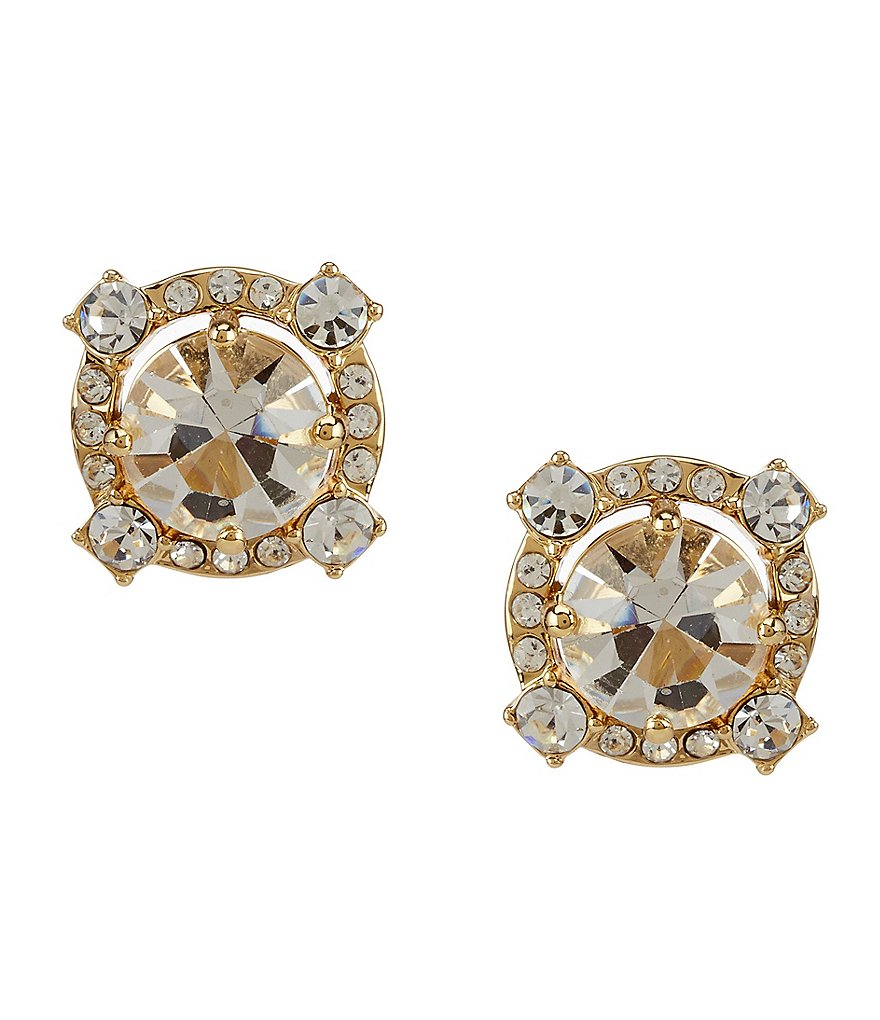 kate spade new york Crystal Cascade Stud Earrings