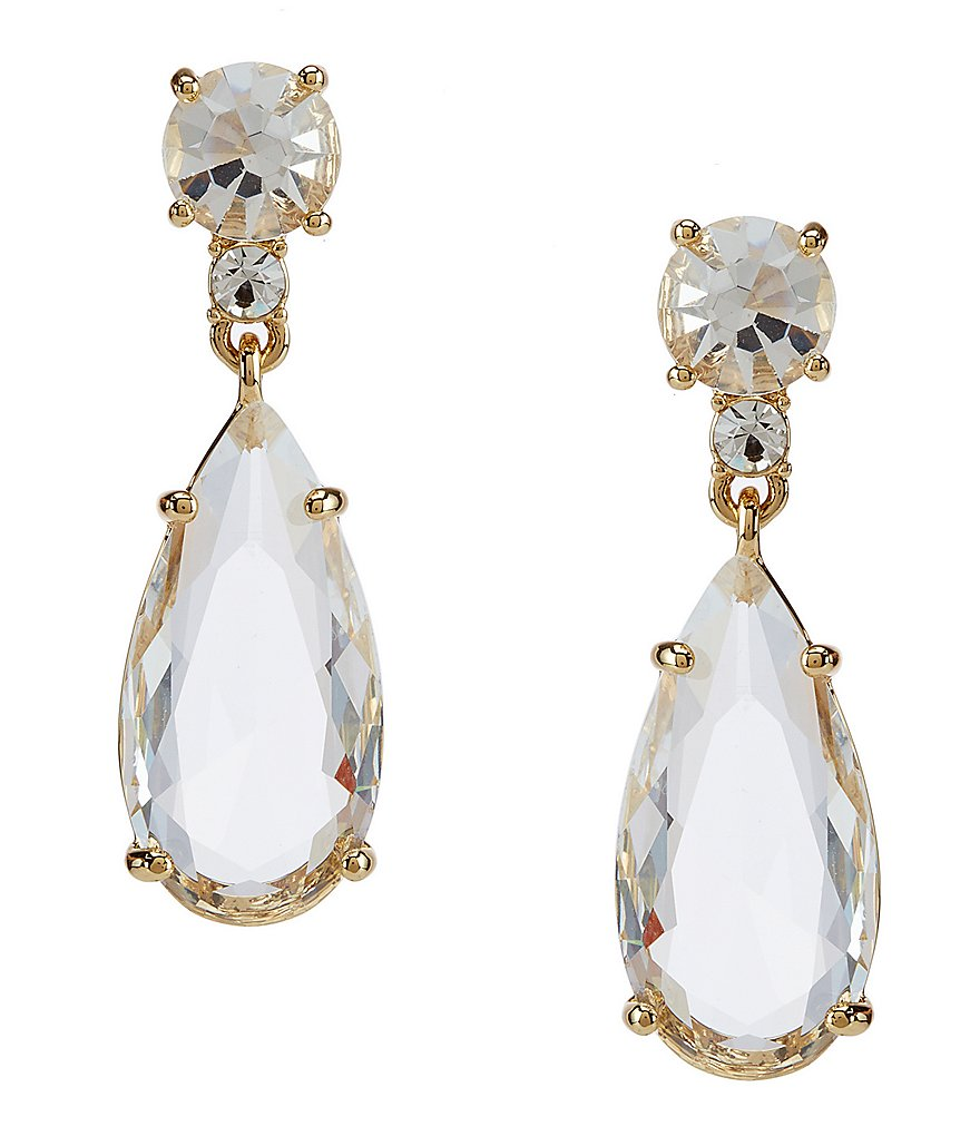 kate spade new york Crystal Cascade Teardrop Earrings