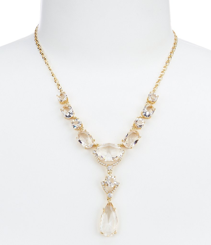 kate spade new york Crystal Cascade Y-Necklace