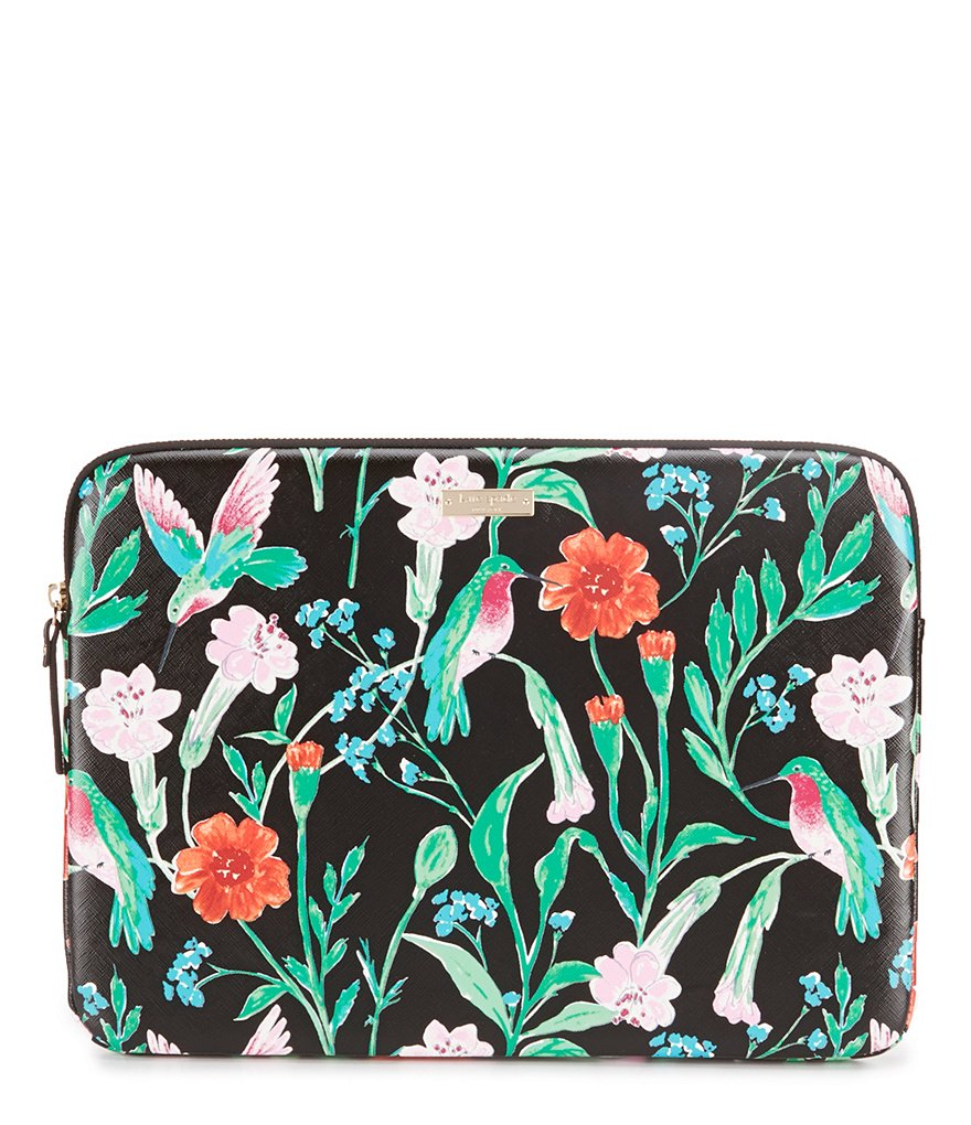 kate spade new york Jardin Floral & Hummingbird Laptop Case