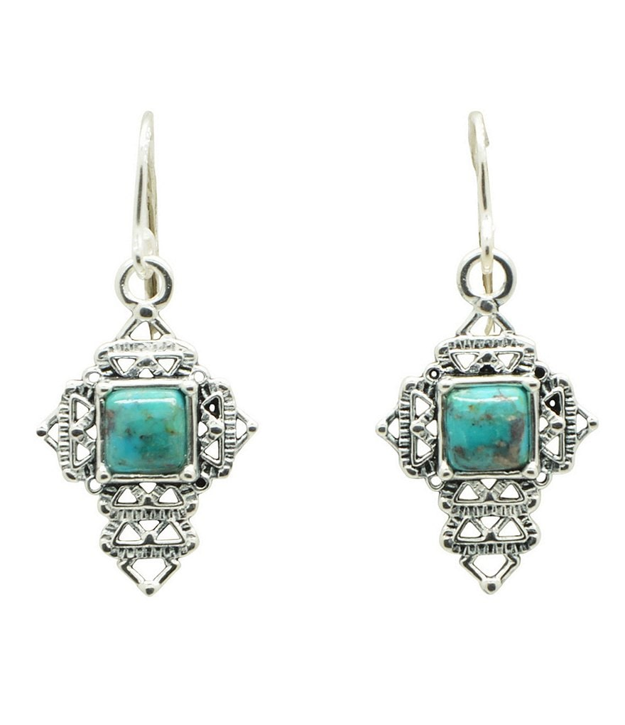 Barse Sterling Silver & Turquoise Cross Earrings