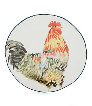 Southern Living Rooster Earthenware Salad Plate