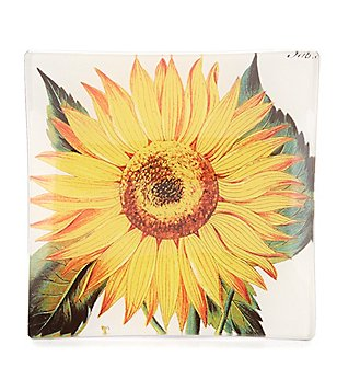 Ben´s Garden Sunflower Decoupage Glass Tray