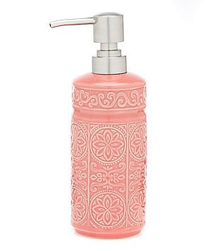 Studio D Callie Scroll and Floral-Embossed Lotion Dispenser