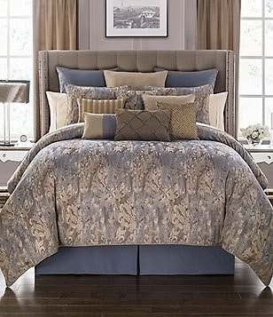 Waterford Alisanne Distressed Damask Comforter Set