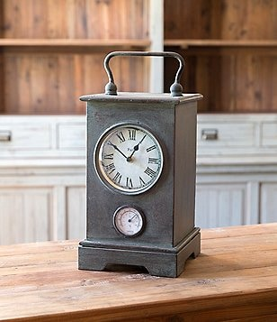 Park Hill Metal Cased Clock with Barometer