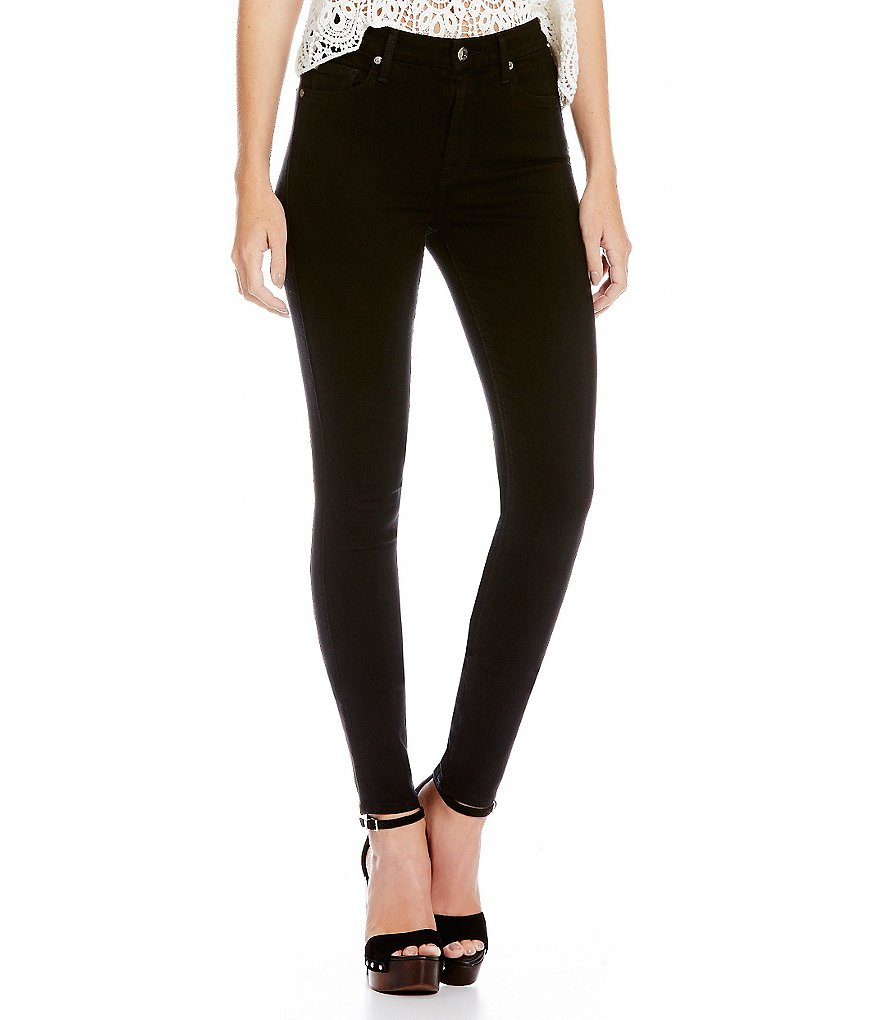 7 For All Mankind Slim Illusion Luxe High Waist Skinny Jeans