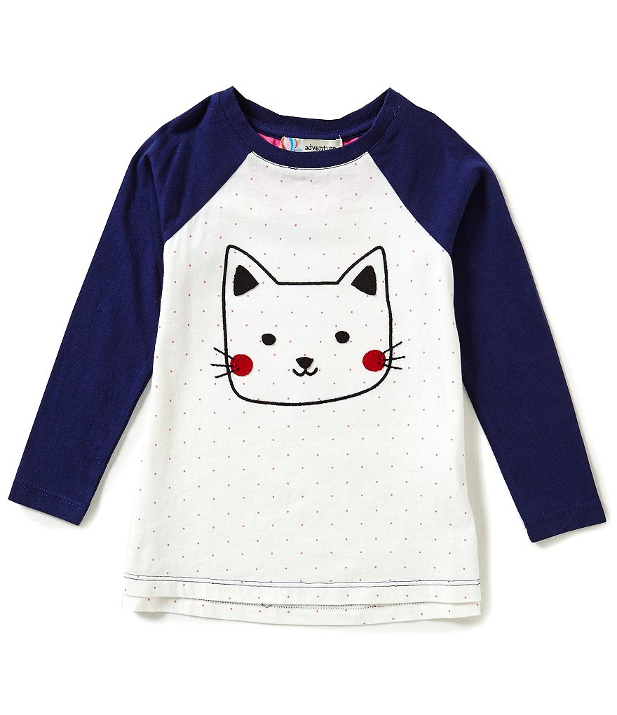 Adventure Wear by Copper Key Little Girls 2T-4T Cat Long-Sleeve Knit Top