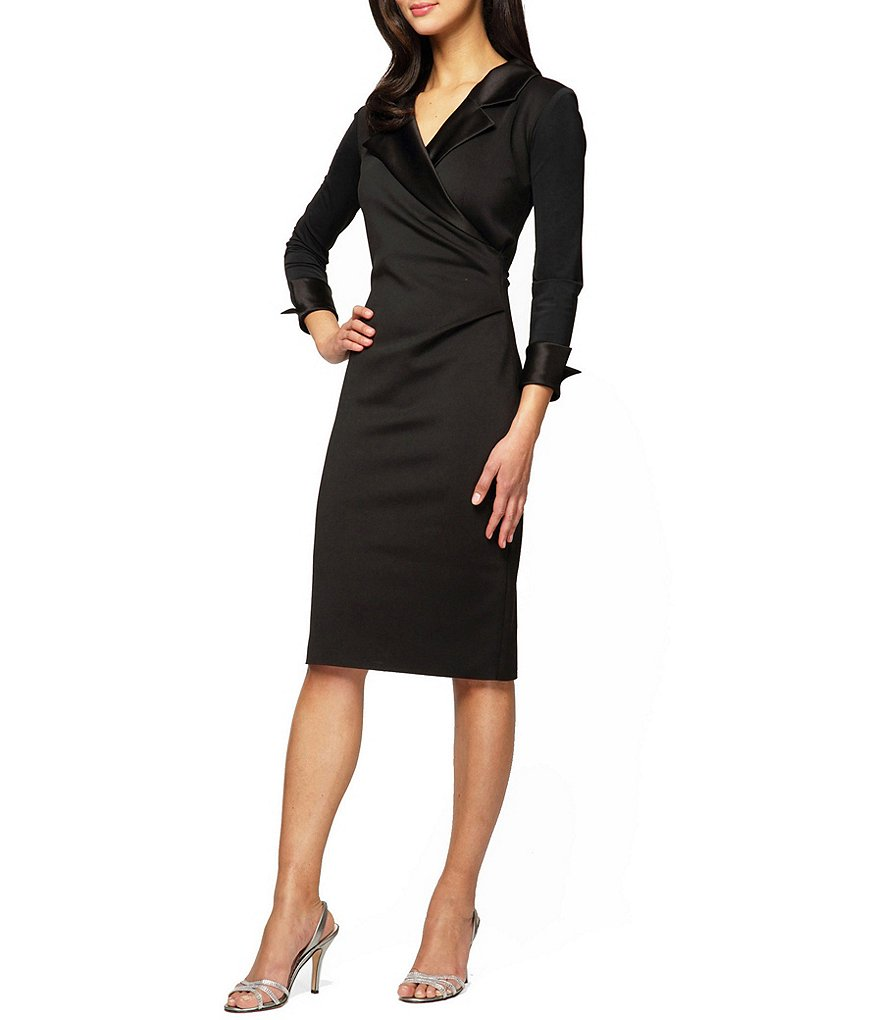 Alex Evenings Portrait-Collar Sheath Dress