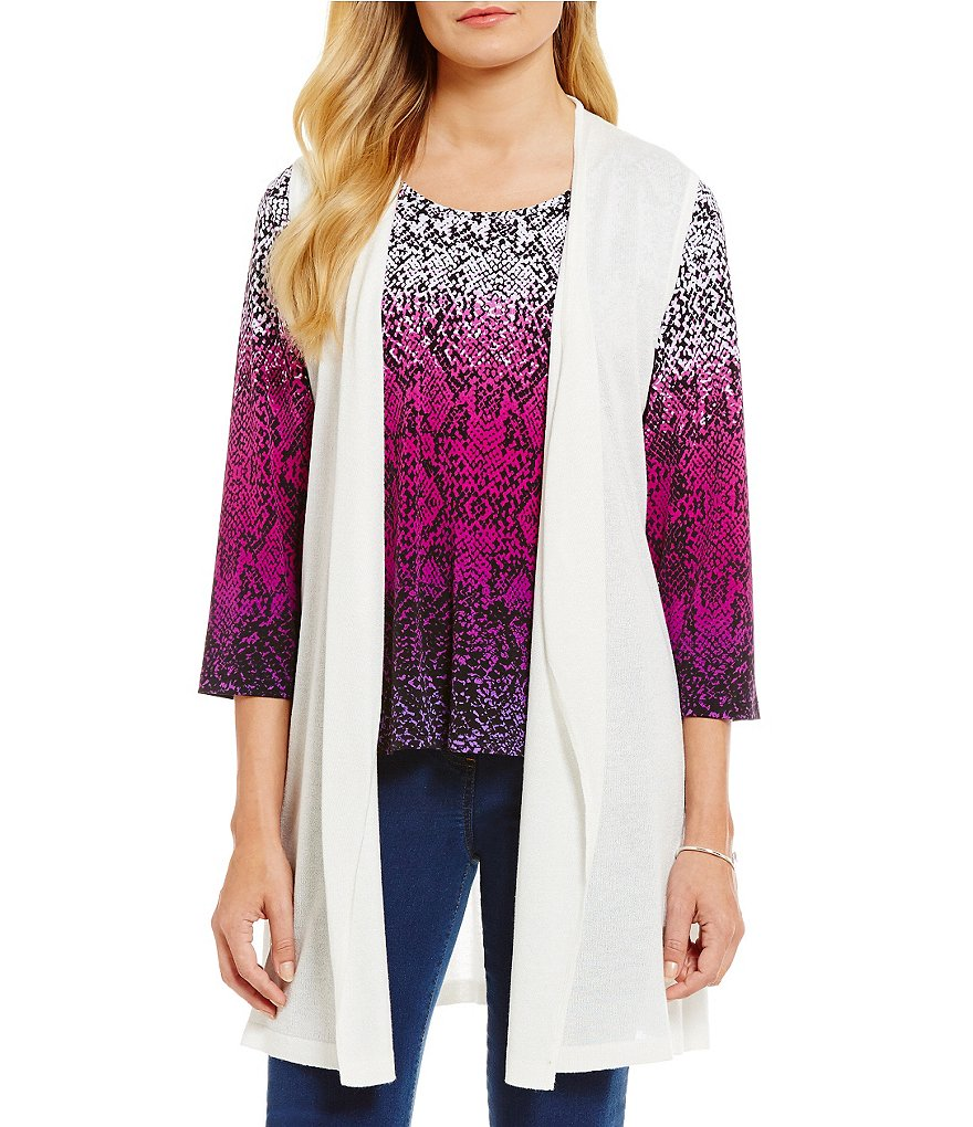 Allison Daley Open Front Sleeveless Long Cardigan Vest