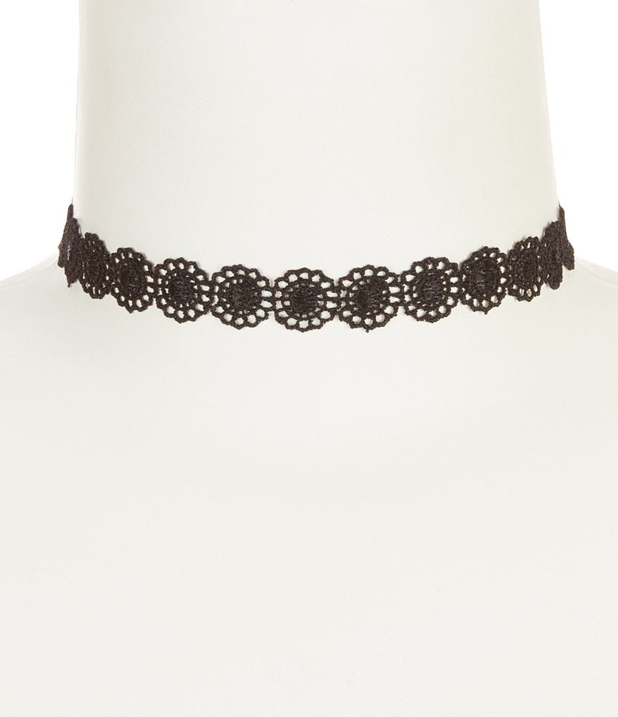 Anna & Ava Eleanor Floral Lace Choker Necklace