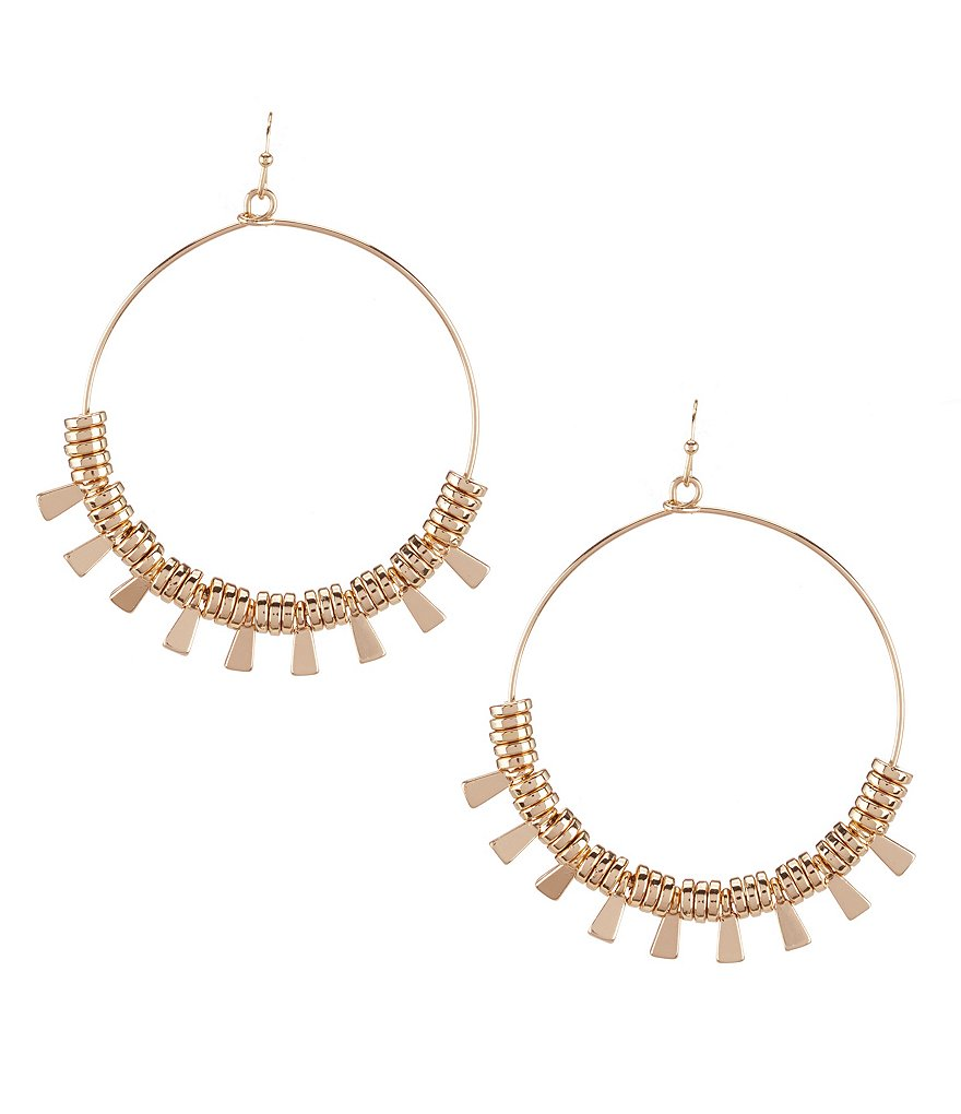 Anna & Ava Julia Boho Drop Hoop Earrings