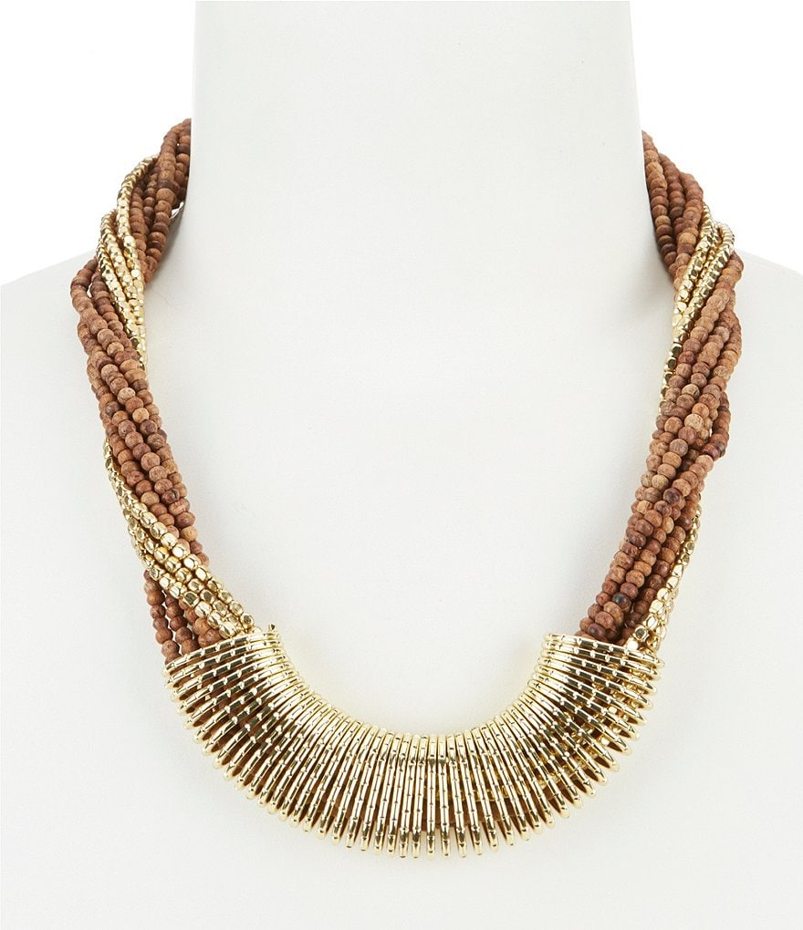 Anna & Ava June Wood Boho Necklace