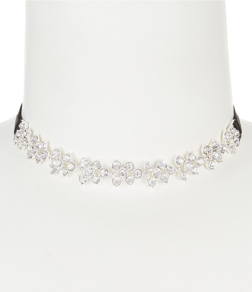 Anne Klein Faux-Crystal Cluster Choker Necklace