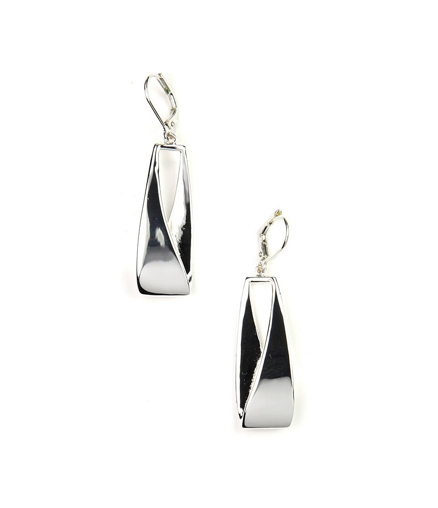 Anne Klein Linear Leverback Earrings