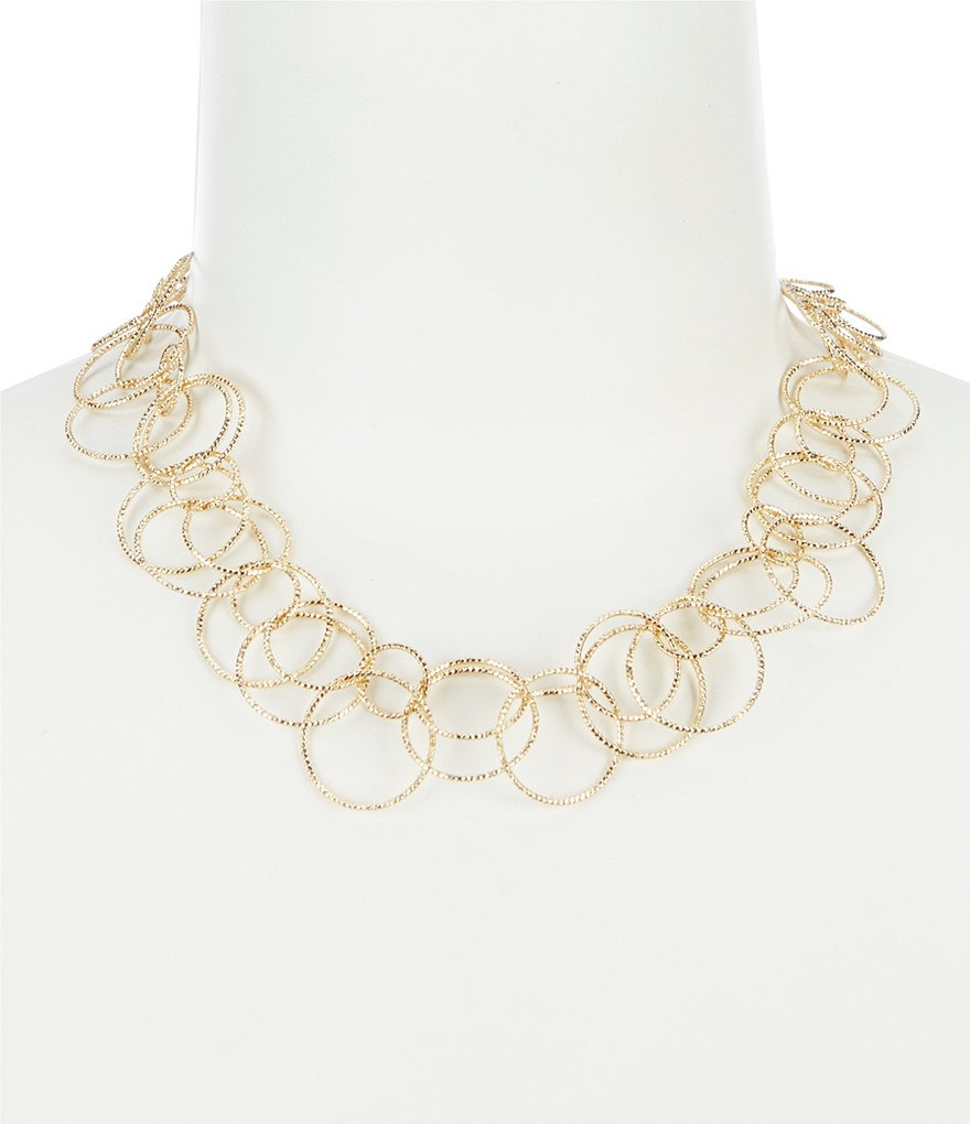 Anne Klein Open Link Collar Necklace