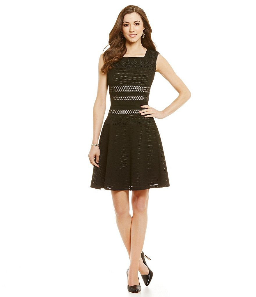 Antonio Melani Florine Perforated Scuba Dress