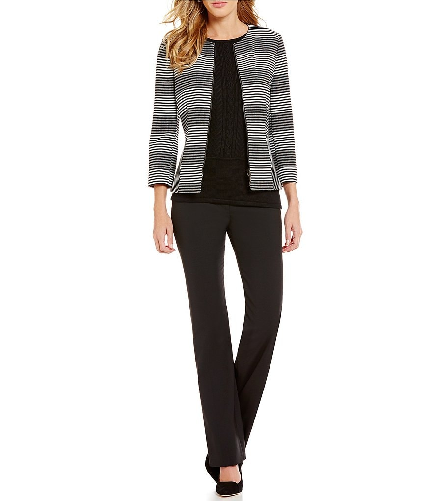 Antonio Melani Josylin Stripe Novelty Jacket & Minnie Bi-Stretch Straight-Leg Pant