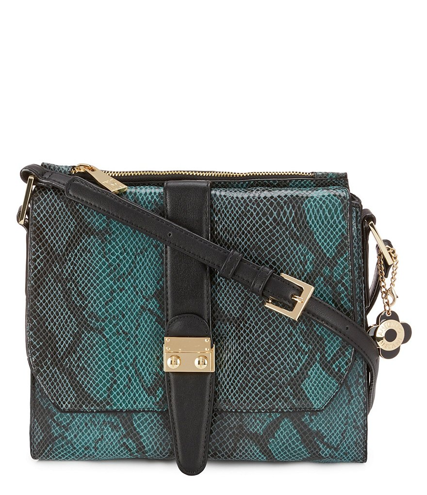 Antonio Melani Lock It Snake-Print Cross-Body Bag