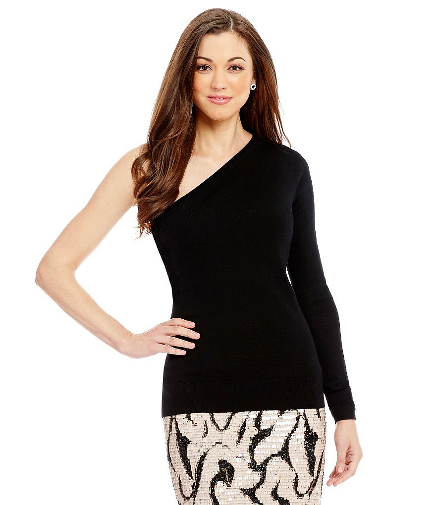 Antonio Melani Naomi One-Shoulder Long Sleeve Wool Sweater