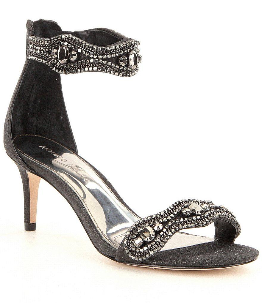 Antonio Melani Sadina Rhinestone Embellished Ankle Strap