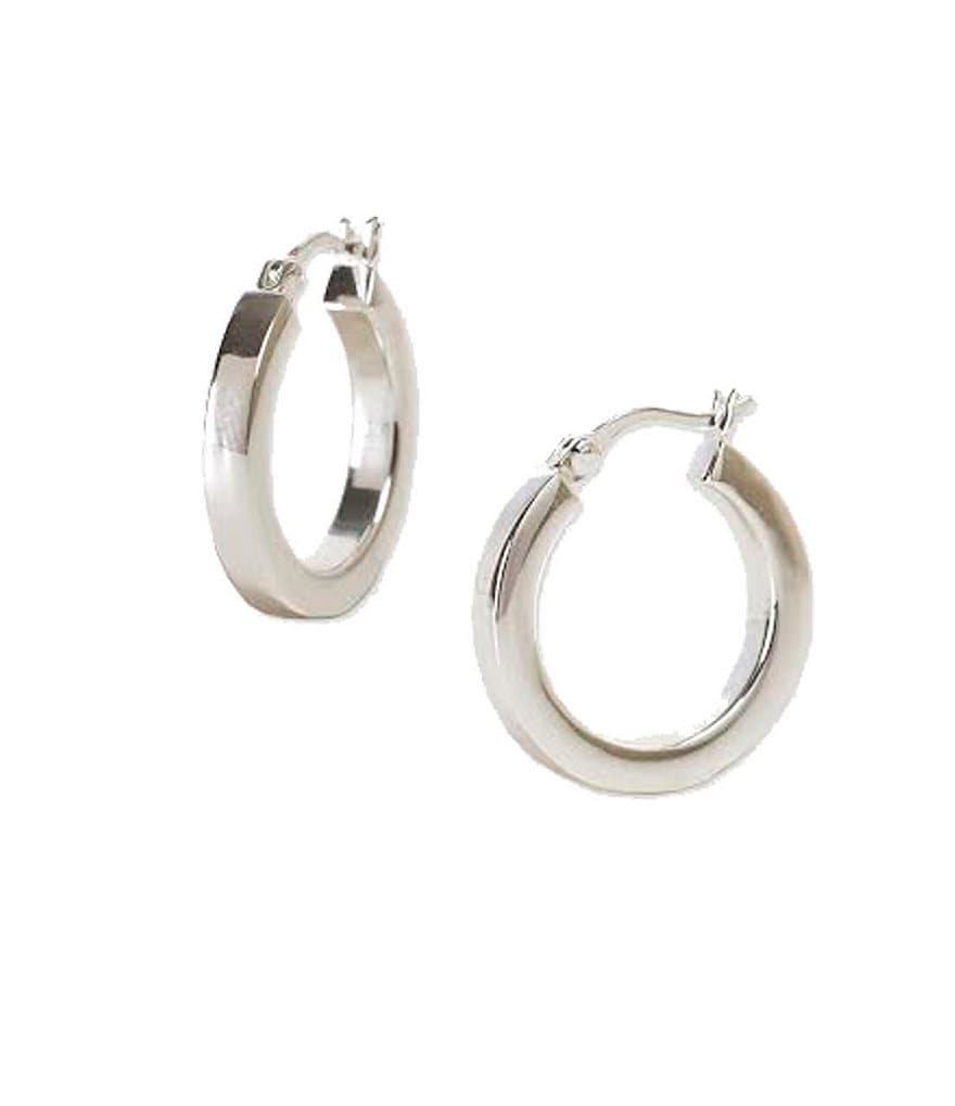 Argento Vivo Sterling Silver Simple Hoop Earrings