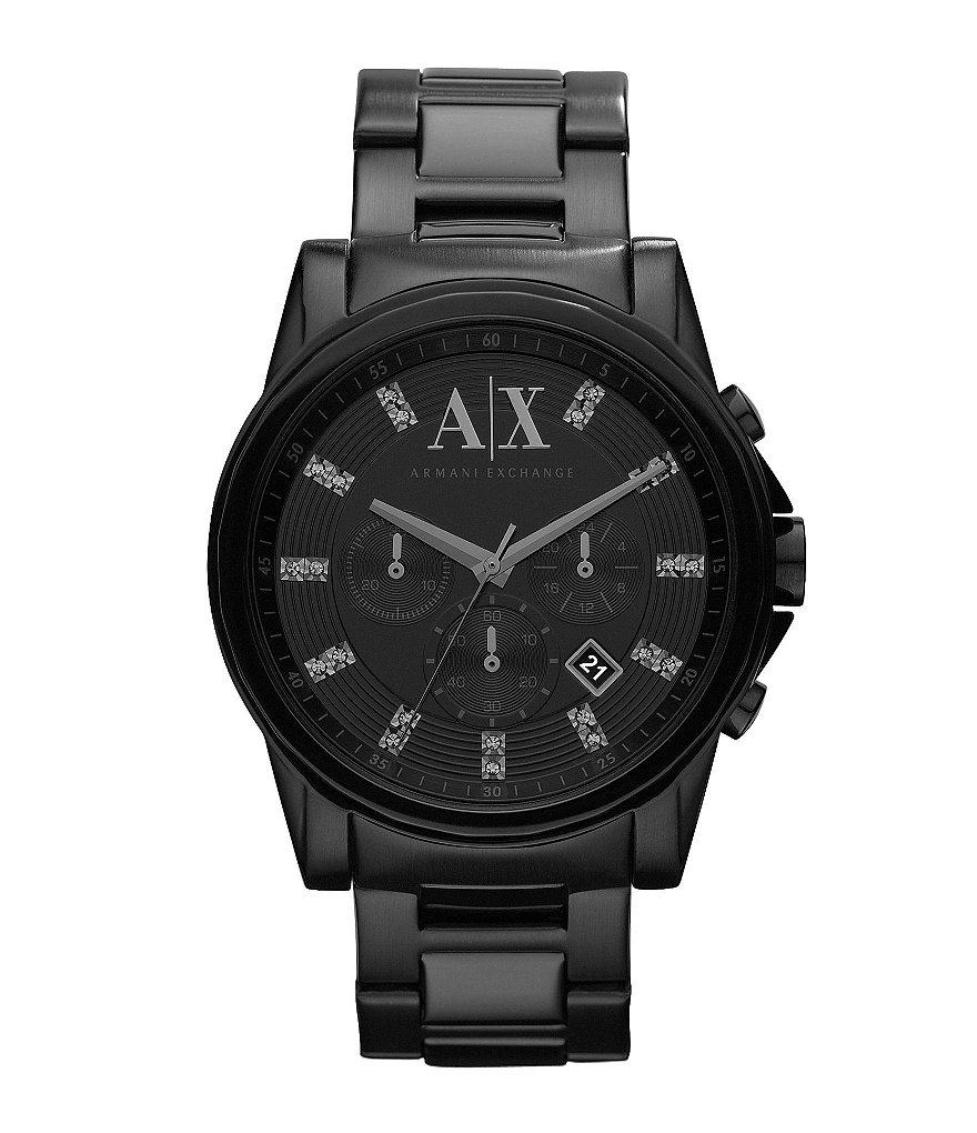AX Armani Exchange Black Men´s Stainless Steel Chronograph Smart Watch