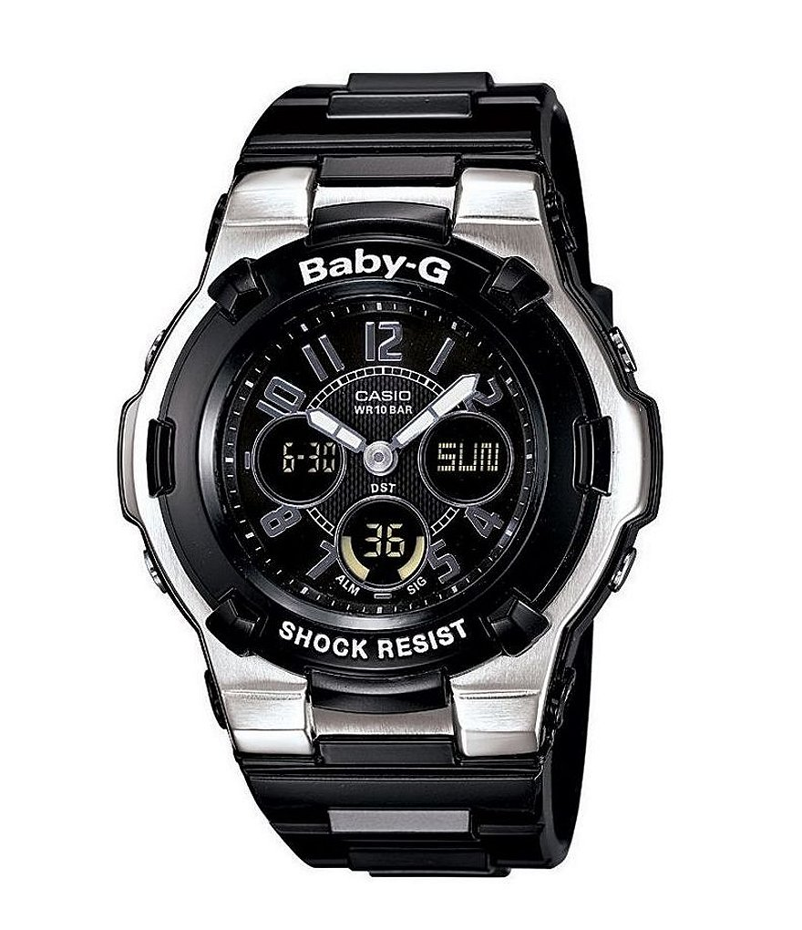 Baby-G Black Resin Ana-Digi Multifunction World Time Watch